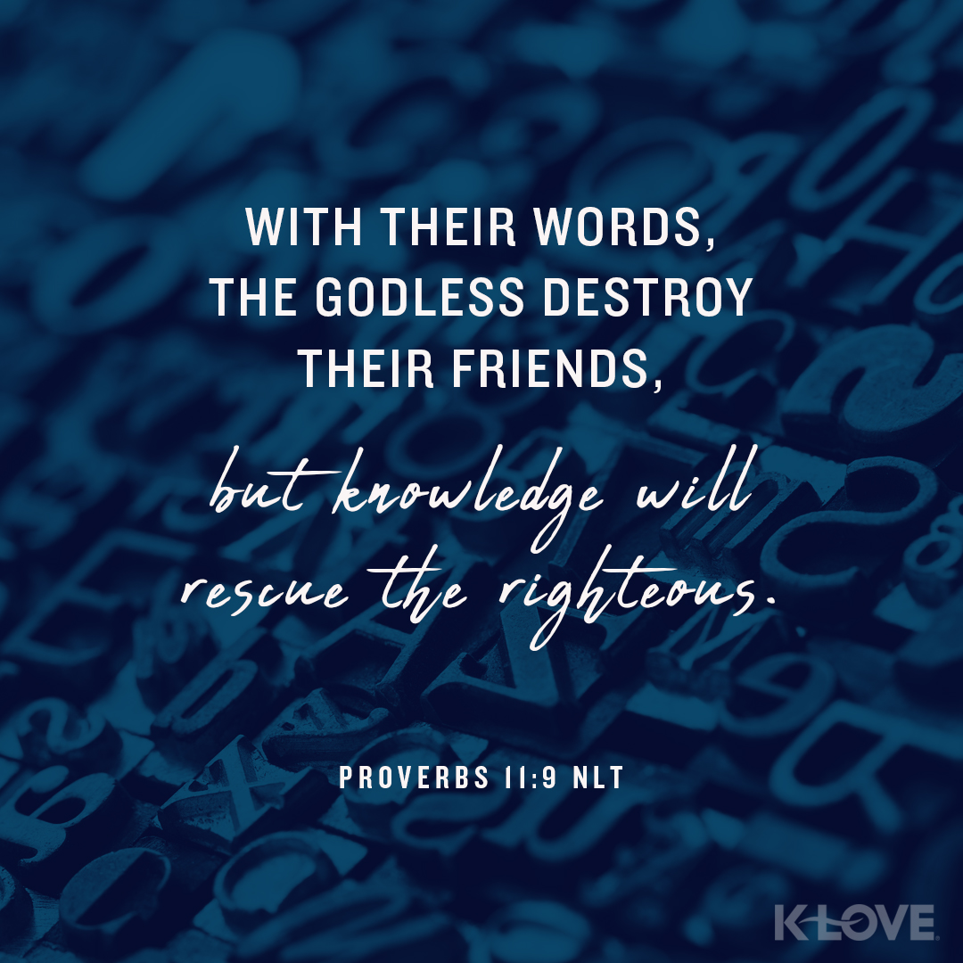 With Their Words Theless Destroy Their Friends But Knowledge Will Rescue The Righteous